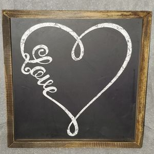 Hobby Lobby Heart Love sign Farmhouse Decor